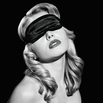 SATIN BLINDFOLD BLACK