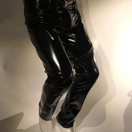 lak, zwart, broek, pants, Den, Bosch