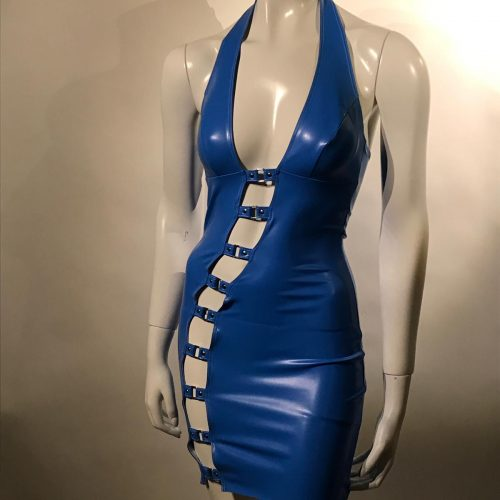 datex, dress, blauw, blue
