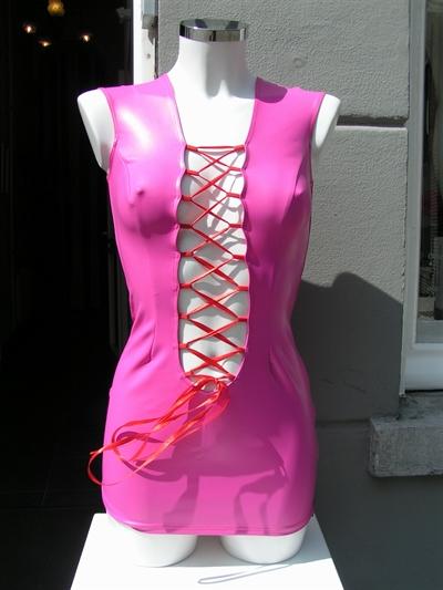jurk datex met korset veter voorkant