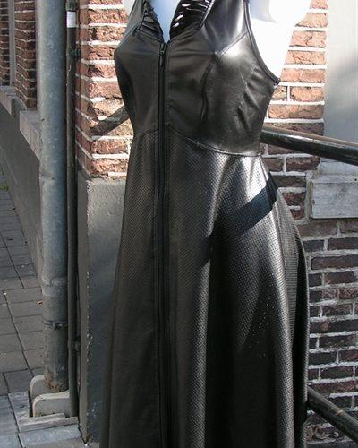 JURK DANAI, jurk lederlook Benno von Stein